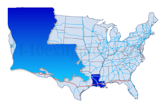 Map Of Texas And Louisiana Border.Louisiana I 10 Exits I 10 Exits In Louisiana I 10 Exit Guide